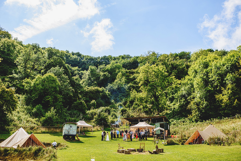 Outdoor Camping Wedding